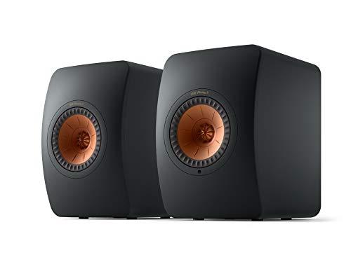 KEF LS50 Wireless II Sistema di altoparlanti Hi-Fi WLAN, Carbon Black, altoparlante attivo | HDMI | Airplay 2 | Bluetooth | Spotify | Tidal
