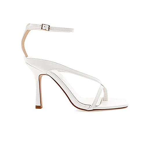 JUSTMAE Estate alla Moda Donna Infradito Sandali Sexy Décolleté Lady Cinturini con Fibbia alla Caviglia Tacchi Alti a Spillo Scarpe Sandali