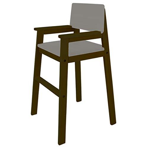 Madyes kinderstoel hoge stoel massief hout beuken kleur palisanders. Modern design. Trapstoel beuken voor eettafel, kinderhoge stoel voor kinderen, stabiel en onderhoudsvriendelijk, vele kleuren mogelijk grijs