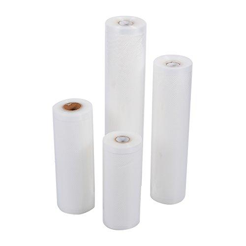 Vakuumkomprimerad utrymmesbesparare förvaringsväskor med fri handpump för resepackning. Bästa tätningsväskorna för kläder, täcken, sängkläder, kuddar, filtar, gardiner 25x500cm