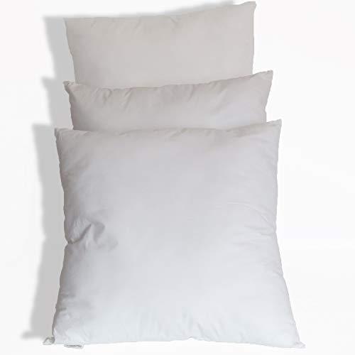stc360seller 3 Cuscini per Divano Doppia Imbottitura 45x45 cm di Cotone Bianco