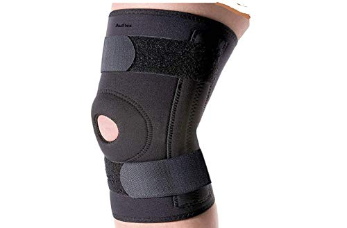 Auflex Hinged Knee Brace Open Patella, Adjustable Knee Support, Breathable Knee Cap for Arthritis, Pain Relief, Sports for Men & Women-Free Size(Pc_1)