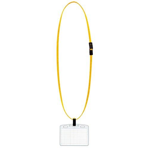 コクヨ 吊り下げ名札セット アイドプラス ソフト 名刺・IDカードサイズ 黄 ナフ-S180Y