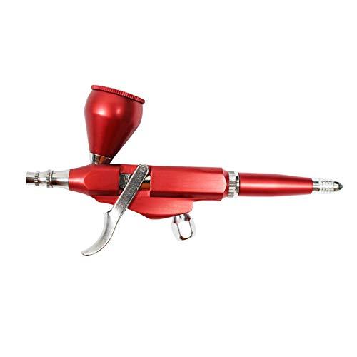 Pistola de pulverización de pintura Profesional 0.3mm Boquilla Aeróleo Boquilla Sola Acción Gravedad Alimentación Pistola Pistola Aerógrafo de pintura artística. ( Color : Silver , Size : 70x155mm )