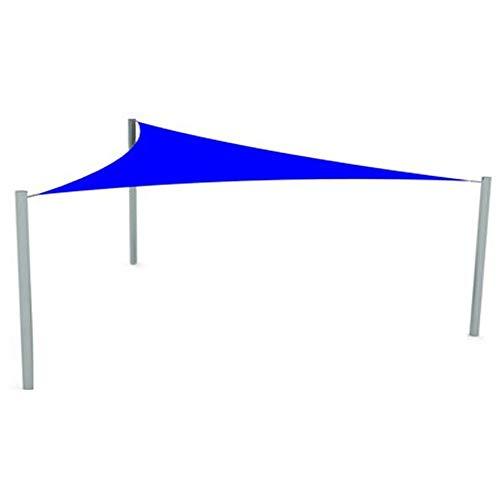 CAIJUN Voile D'ombrage Respirant HDPE Auvent À Auvent pour Jardin Extérieur Patios Terrasses Piscines Garden Yard Party Bloc UV À 85% Triangle (Color : Blue, Size : 4.6x4.6x4.6m)