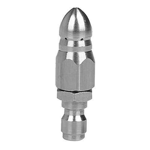 Boquilla rotativa de limpieza SENRISE 1 boquilla de chorro de lavadora a presión para dragado de tuberías de alcantarillado (11,8 mm, 1 parte delantera 6 trasera)