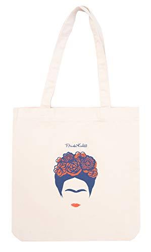 ERIK - Tote bag tela, Bolso de algodón orgánico Frida Kahlo, 37x39 cm