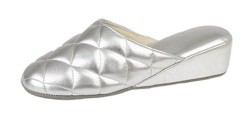Dunlop - Zuecos para mujer, color Platado, talla 40