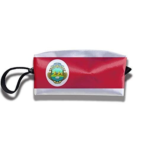 Kosmetiktasche Bleistiftbeutel, Costa Rica Flag Briefpapier Geldbörse Aufbewahrungsorganisator Reisehalter