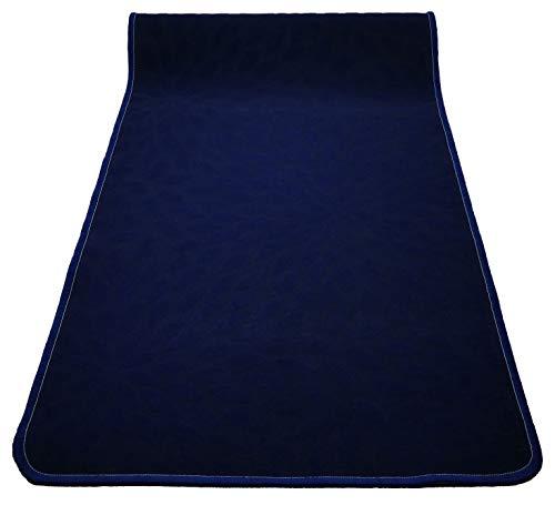 CASA TESSILE Tappeto Cucina passatoia Antiscivolo Largo 50 cm. Ariel - Blu Scuro, 240 cm.