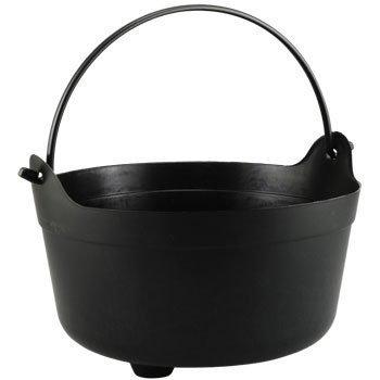 Black Cauldron Bucket ready for Halloween treats by Greenbriar