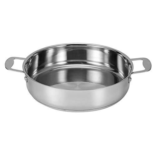 Liujaos Sartén para cocinar, sartén Antiadherente para guisar, sartén de inducción, sin Revestimiento para Estufa de Gas Estufa eléctrica
