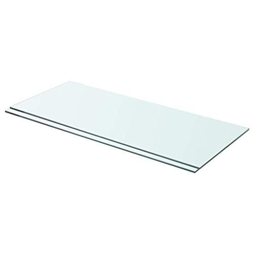 vidaXL 2X Estantes Panel Balda Placa Estantería para Casas o Tiendas de Pared Expositora Estantería Decoración de Vidrio Transparente 70x30cm
