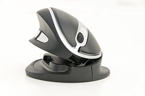 R-Go Oyster Mouse ottico, 1200 dpi, 5 tasti, USB 2.0, nero/argento
