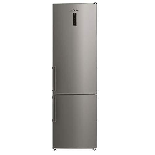 Edesa | Frigorífico No frost | Modelo: EFC-1832 NF EX | Frigorífico + congelador | Puertas reversibles | Ilumiación LED | Clase de eficiencia energética A ++ | Acabado en INOX