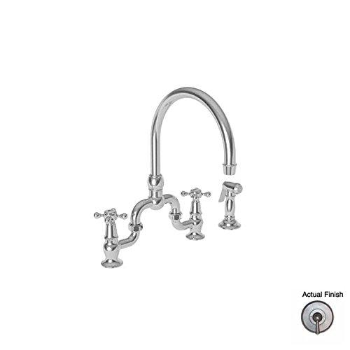 Find Bargain Kitchen Bridge Faucet with Side Spray - 9460 - GUN METAL - Chesterfield