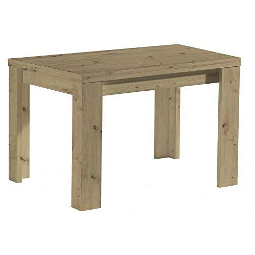 GXK Tisch Esstisch Auszugstisch Küchentisch ausziehbar Asteiche 110 x 60 cm
