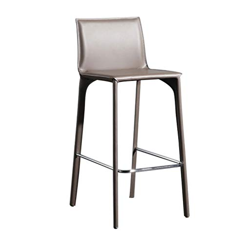 Barstools Barstool Breakfast Dining Stools Wrought Iron Home Counter Leather Bar Chairs Seat, Simple Leisure Breakfast Dining High Stools for Cafe Pub Restaurant Bar Stools High Stools Bar Chairs