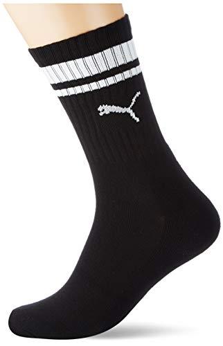 PUMA Unisex-Adult Crew Heritage Stripe (5 Pack) Socks, Black, 39/42 (5er Pack)