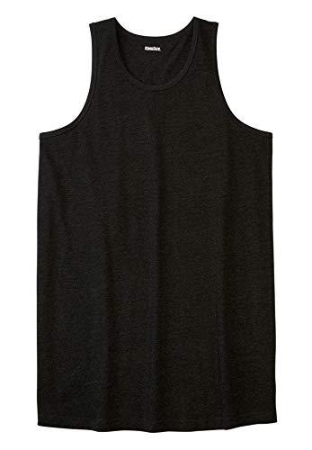 KingSize Men's Big & Tall Shrink-Less Lightweight Longer-Length Tank - Big - 9XL, Heather Charcoal Shirt