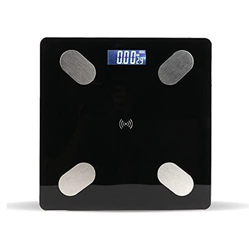 La báscula electrónica se puede conectar al teléfono móvil, la aplicación Bluetooth, el cargador multifunción, el hogar, el albergue compacto, los hombres y las mujeres, la pérdida de peso de la vida,