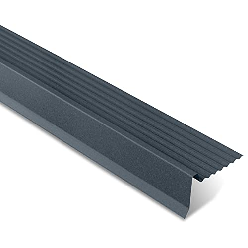 Rive Ajustable pour Finition Tôle Imitation Tuiles - Tuile R - Acier 0.50 mm - Revêtement 40 µm - Recouvrement Transversal 100 mm - 2225x164x80 mm - Grande Longévité et Robustesse - Anthracite Mat