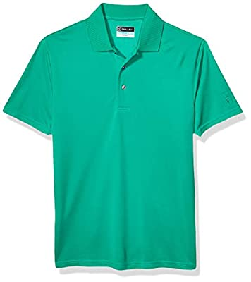 PGA TOUR Men's Big and Tall Short Sleeve Airflux Solid Polo Shirt, Simply Green, XXL