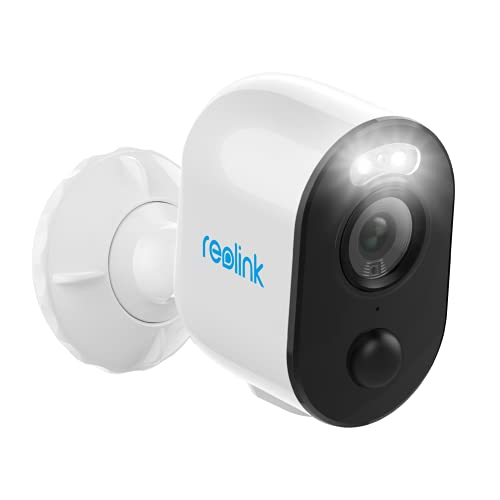 Spotlight Security Camera Wireless Outdoor Wire-Free Battery/Solar Powered, PIR Motion Activated Video Record, 1080P Night Vision, Two-Way Talk, Built-in Siren, for Home Surveillance Reolink Argus 3