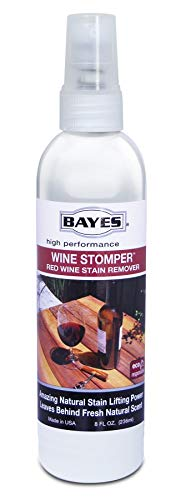 Bayes High-Performence Wine Stomper Red Wine Stain Remover Spray - Quickly Removes Red Wine, Juice, Blood, and Other Dark Stains - 8 oz