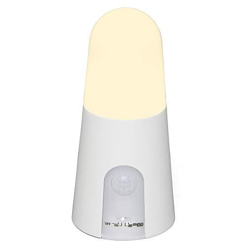 アイリスオーヤマ LEDセンサーライト 乾電池式 人感センサー付 スタンドタイプ BSL40SL-WV2