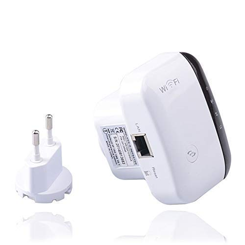 XUCHEN AC300 WiFi Booster extensión de Alcance, de 2,4 GHz Wireless Amplificador, la señal inalámbrica Booster y Repetidor (Velocidad de hasta 300 Mbps)