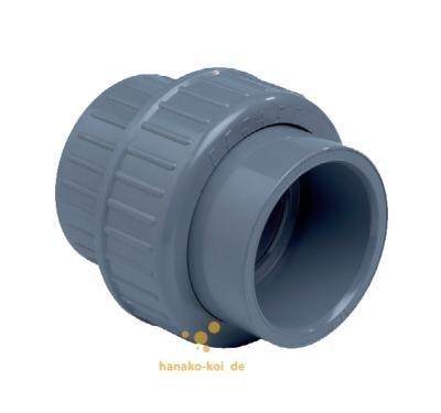 PVC-Verschraubung 32 mm, mit 2 Klebemuffen