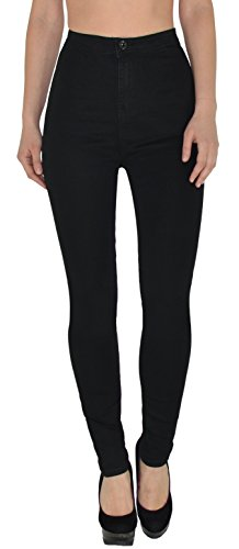 ESRA Damen High Waist Jeans Hose Jeanshose Skinny Hochbund Hose bis Übergröße Z92