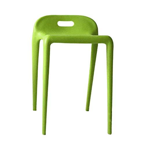 YLCJ voetbank voetbank werk kruk schoonheid kruk douche kruk bar kruk verdikte plastic kruk tafel kruk schoen shifter multifunctionele bank creatieve familie (kleur: blauw) Groen