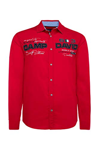 Camp David Herren Langarmhemd mit Artworks, Regular Fit
