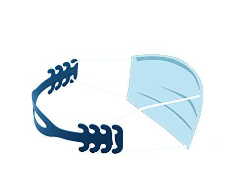 R&R SHOP Reggi Mascherina - Ergonomico per Orecchie con 4 Regolazioni, Adatto per Bambini e Adulti, Flessibile Plastica di Mais 100% Riciclabile e Compostabile, Prodotto in Italia - Set di 5