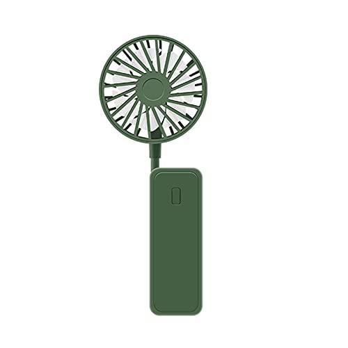 Huaji Manguera flexible portátil mini ventilador USB de carga plegable 3 velocidades ajustable silencio ventilador para el hogar oficina al aire libre