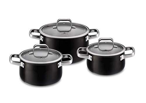 Amazon Com Primus Stainless Steel Pot Set With Lids 6 Pcs Kitchen Dining