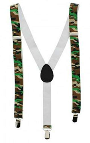 Easy Attached Desert Camouflage Design Adjustable Braces - Bretelles - Homme Desert Green Camouflage Taille Unique
