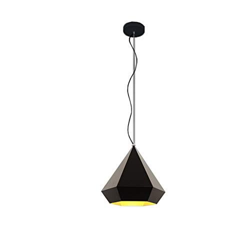 Zwarte Nordic Modern minimalistisch creatief werk Erker Restaurant Iron Fashion Single Bar tafel Eettafel Afdekking Small E27