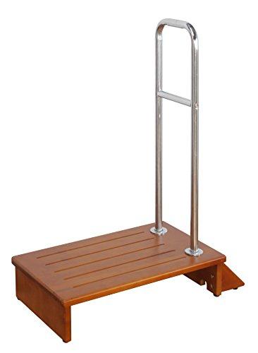 手すり付き踏み台 (70幅) 【上り下り楽々/玄関台・ステップ台/横倒れ防止仕様】