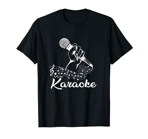 Karaoke Cantante Festa Musica Microfono Note Canzone Regalo Maglietta