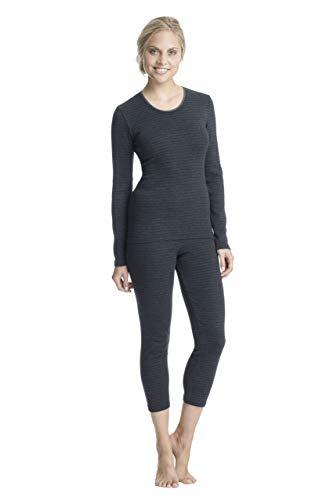 Con-ta Thermo 3/4 lange broek, leggings van natuurlijk katoen, comfortabel thermo-ondergoed, dameskleding, in verschillende Kleuren, maten: 36-50.