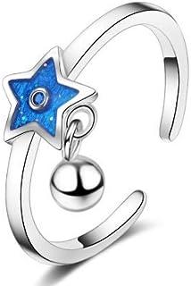 Star Rings Bells Rings White Rings Adjustable Rings for Women Girls Gift Finger Jewelry Stacking Rings Tail Ring Band Ring...