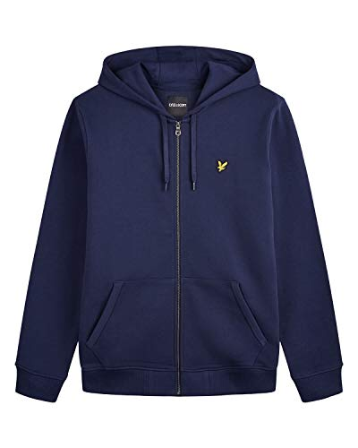 Lyle & Scott Zip Through Hoodie Capucha, Azul (Navy Z99), X-Small (Talla del Fabricante: X-Large) para Hombre