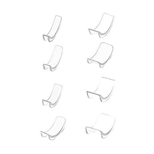 Herramientas de joyería, Juego de 8 Piezas de Ajuste de tamaño de Anillo, 8 tamaños, Reductor de Ajuste de tamaño de Anillo Invisible de Silicona, joyería para Mujeres, Regalos (Blanco)