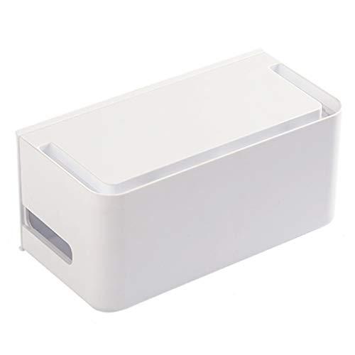 Caja De Almacenamiento del Panel De Conexión Caja De Almacenamiento De La Toma De TV De La Fuente De Alimentación Ción De Calor Hueca (Color : Blanco, Size : 30 * 12.6 * 14cm)