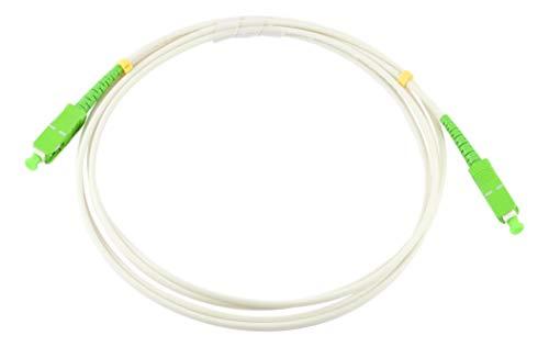 Octofibra - Cable de fibra óptica para Box Naranja, SFR, Bouygues Telecom SC-APC a SC-APC blanco blanco 15 m
