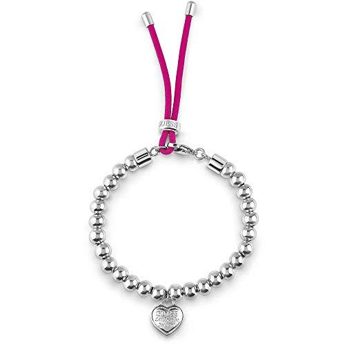 Guess Damen-Armband Edelstahl/Kunststoff One Size Silber/rosa 32002373