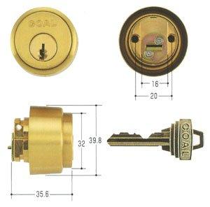 GOAL(ゴール) ピンシリンダー LXタイプ GCY-55 キー標準3本付属 玄関 鍵 交換 取替え 扉厚33mm〜42mm向け GCY55 AS・LX/LD /HDゴールド色33〜42mm